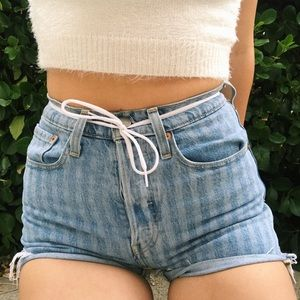 Striped Levi's button up shorts